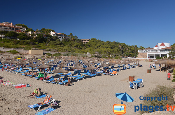 Zone privée sur la plage de Domingos Petits à Cala Tropicana - Majorque