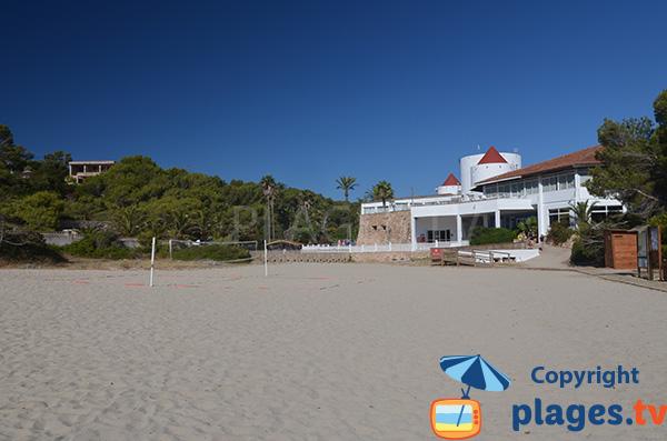 Restaurant sur la plage de Domingos - Cala Tropicana