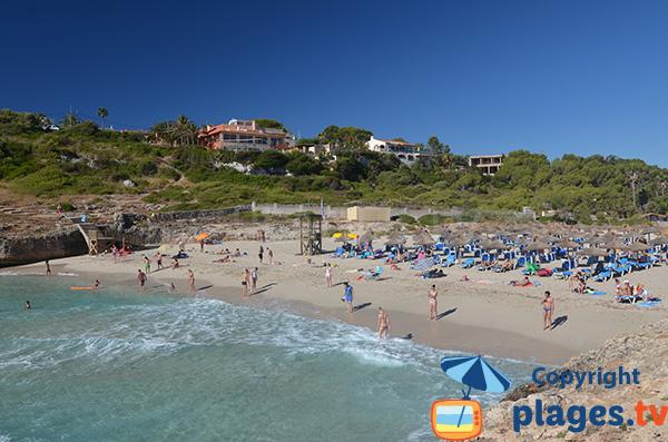 Photo de la petite plage de Domingos à Cala Tropicana - Majorque