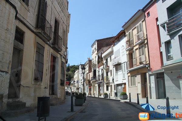 Vieille ville d'Arenys de Mar en Espagne