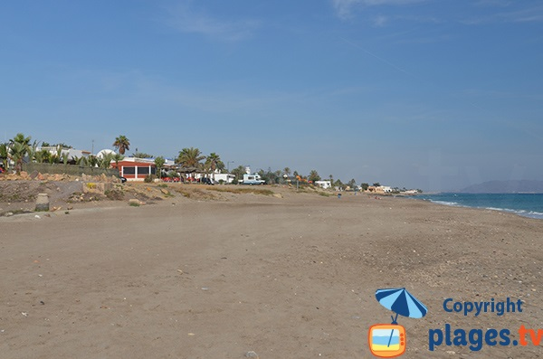 Sable de la plage d'El Cantal - Mojacar
