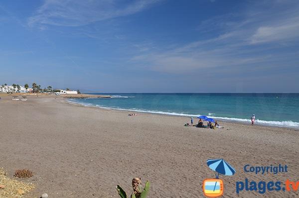 Partie nord de la plage Vista de Los Angeles - Mojacar - Espagne