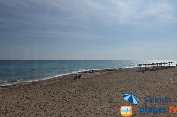 Partie sud de la plage El Descargador - Mojacar
