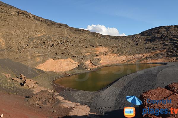 Lagune verte à El Golfo à Lanzarote
