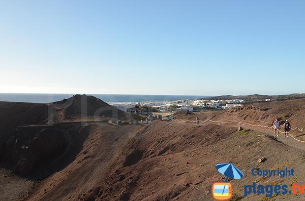 Sentier de la plage d'El Golfo - Lanzarote