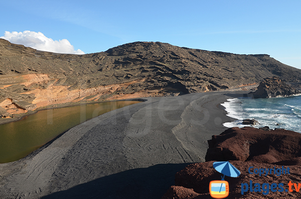 Plage d'El Golfo à Lanzarote