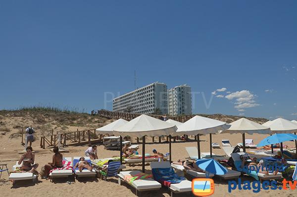 Hôtel au niveau de la plage El Moncaio à Guardamar en Espagne