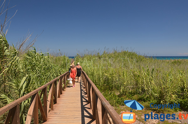 Accès à la plage El Moncaio à Guardamar