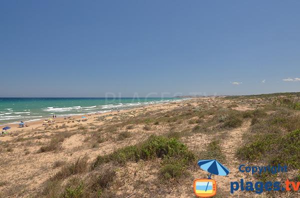 Photo de la plage El Moncaio à Guardamar en Espagne