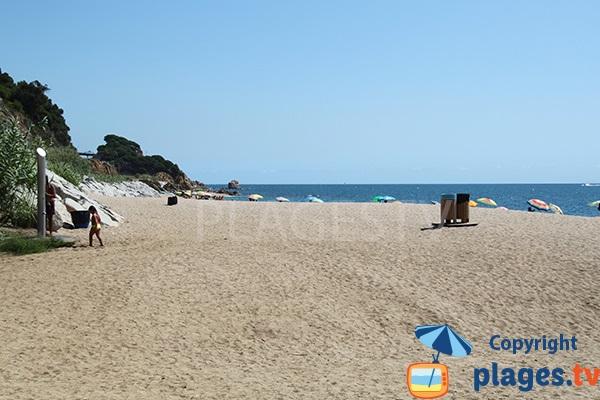 Plage de sable à Sant Pol de Mar
