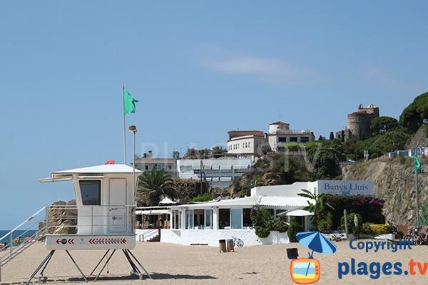 Poste de secours de la plage d'El Morer à Sant Pol de Mar
