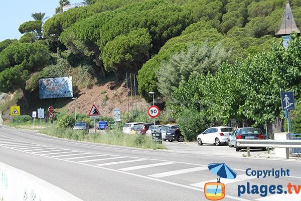 Parking de la plage de Sant Pol de Mar