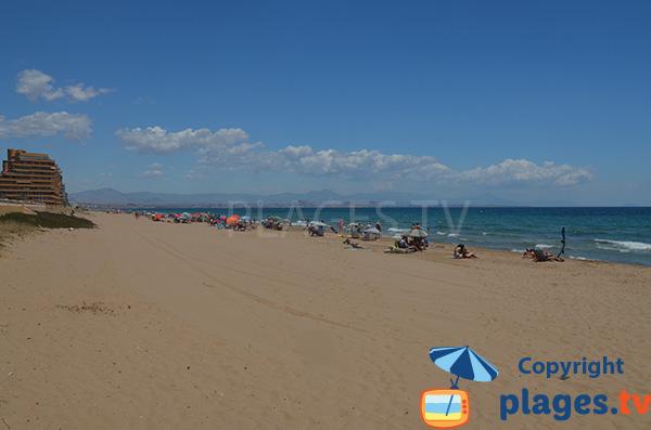 Photo de la plage de Elche à Los Arenales del Sol - Espagne