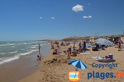 Plage à Elche en Espagne - El Pinet