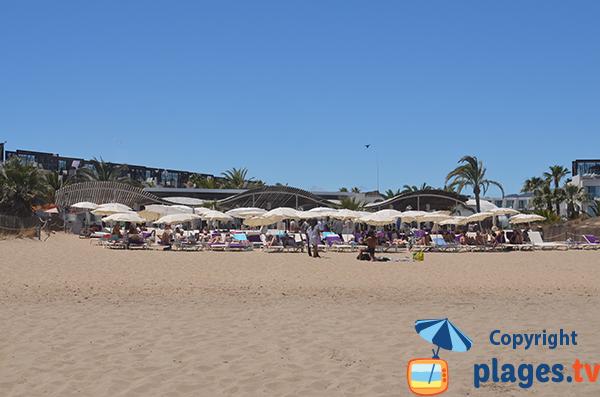 Plage privée sur la plage d'En Bossa - Ibiza