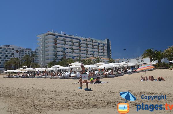 Hôtel sur la plage d'En Bossa - Ibiza