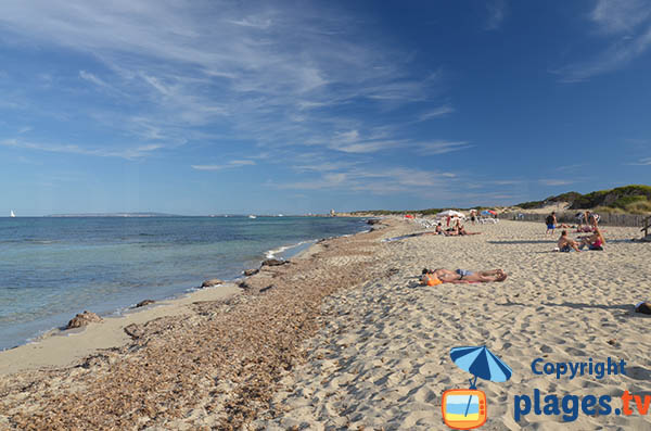 Plage Es Cavallet à Ibiza