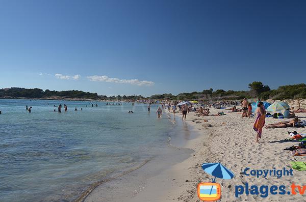 extrémité de la plage d'Es Dolc à Colonia de Sant Jordi
