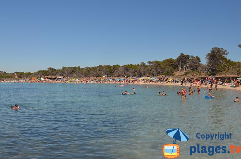Animations sur la plage d'Es Moli de s'Estany à Colonia de Sant Jordi à Majorque