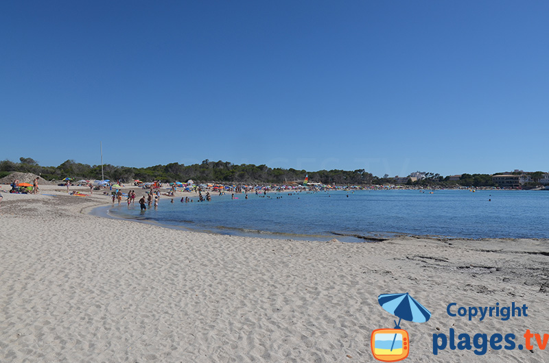 Extrémité de la plage d'Es Moli de s'Estany à Colonia de Sant Jordi - Majorque