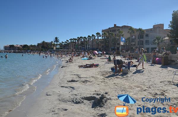 Extrémité de la plage du Port - Colonia de Sant Jordi