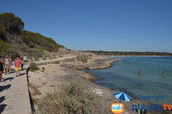 Chemin d'accès aux plages sauvages de Colonia de Sant Jordi