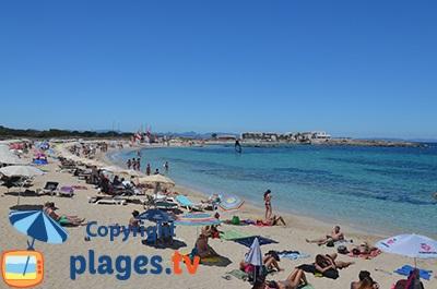 Plage à Es Pujols à Formentera - Espagne