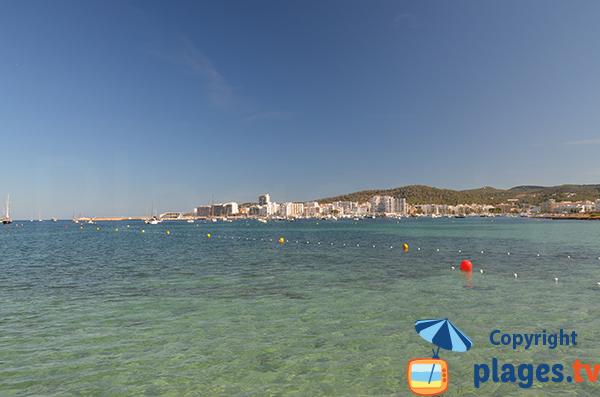 Vue sur Sant Antoni à Ibiza