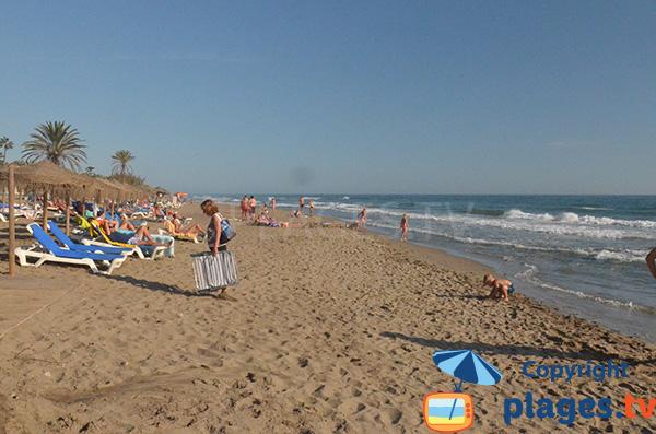 Photo de la plage d'Estrella del Mar à Marbella
