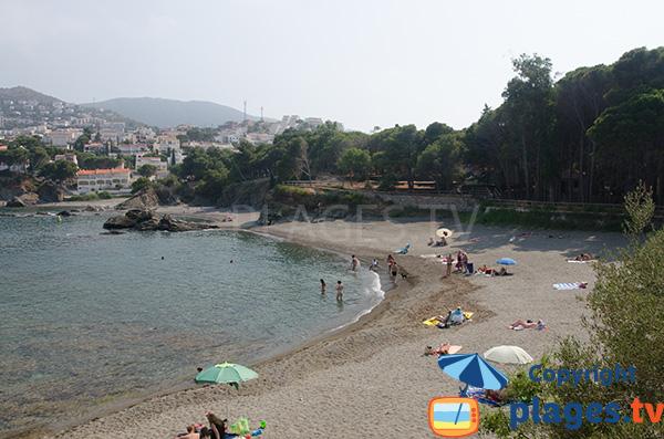 Photo de la plage de Farella del Mig à Llança - Espagne