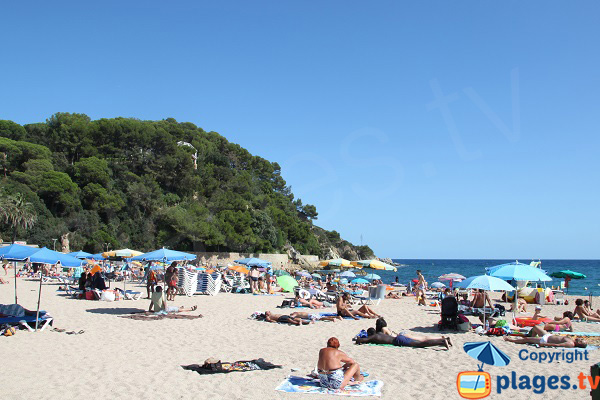 Fenals beach in Lloret de Mar - Spain