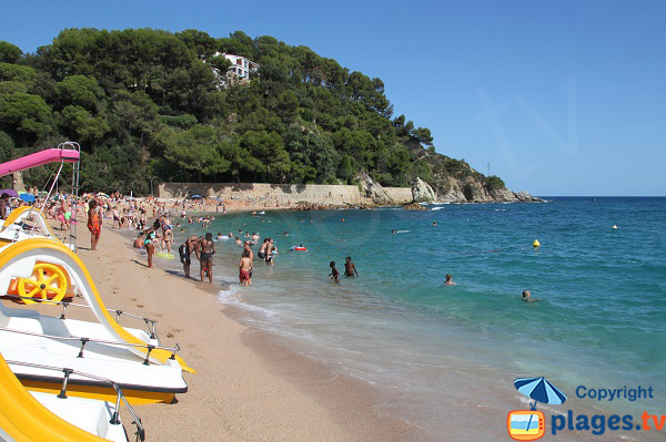 Photo de la plage de Fenals à Lloret de Mar - Espagne