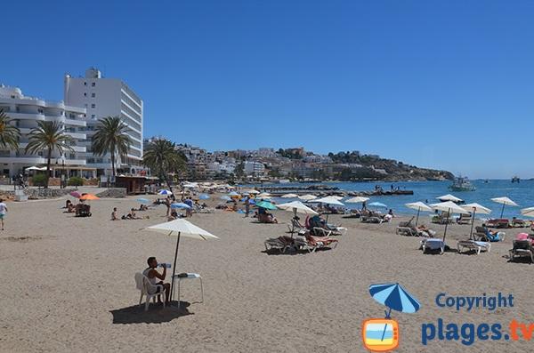 Plage à proximité du centre ville d'Ibiza