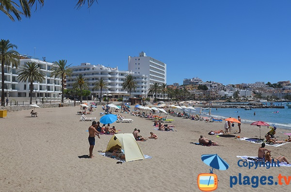 Beach in Ibiza (Eivissa)