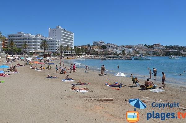 Nearest beach to Ibiza