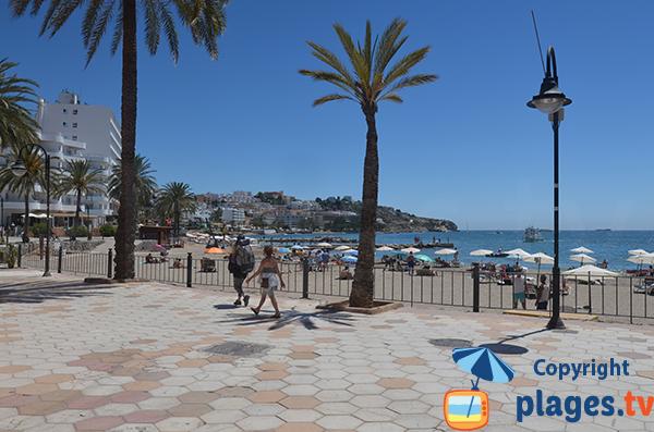 Figueretes beach in Ibiza - Spain