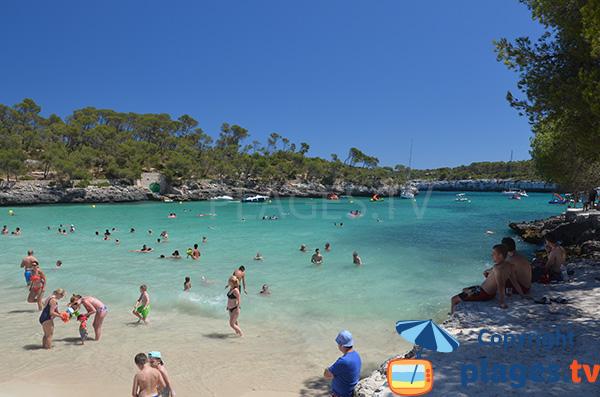 Crique avec une mer turquoise - Cala de sa Font d'en Alís