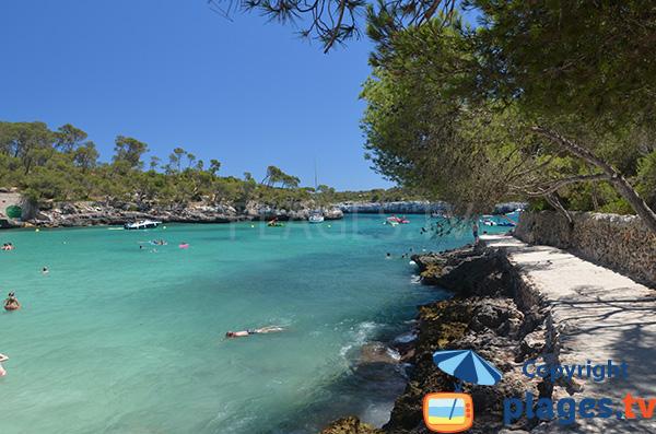 Sentier entre la crique de Montragó  et la plage de  s'Amarador - Majorque