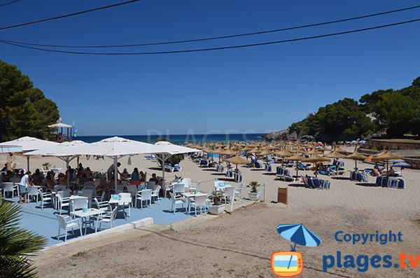 Restaurant sur la plage de Font de Sa Cala - Majorque