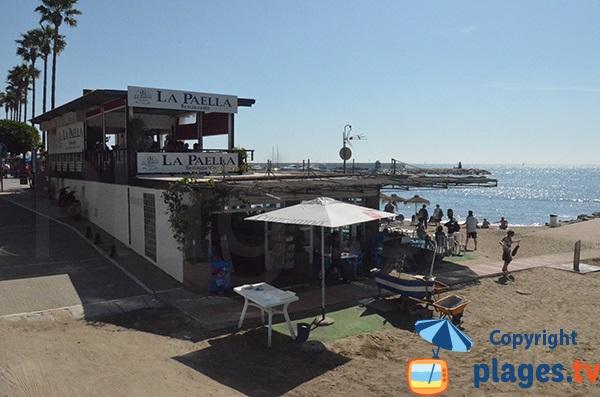 Restaurant sur la plage de Fontanilla - Marbella