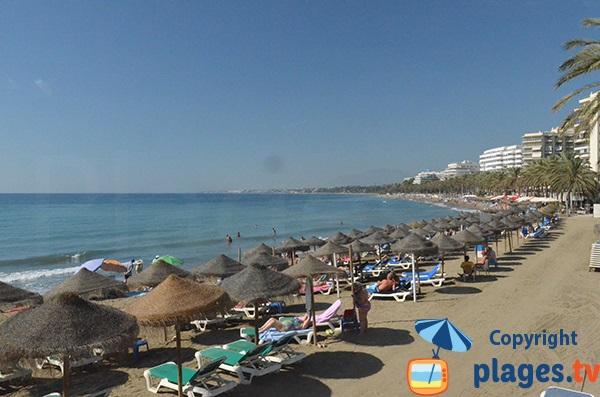Photo de la plage de Fontanilla à Marbella - Espagne