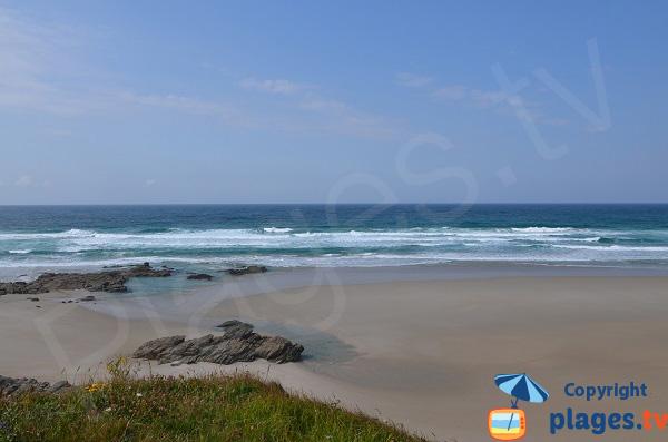 Belle plage à Barreiros en Galice