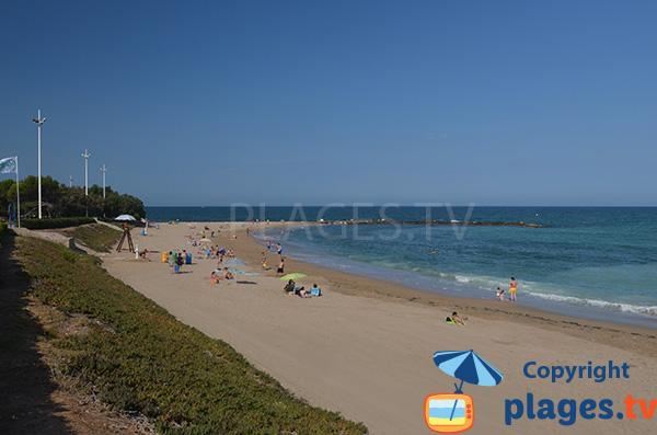 Anse nord de la plage de Forti à Vinaros en Espagne