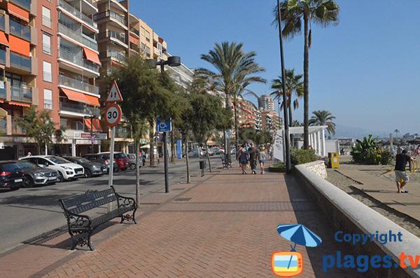 Promenade le long de la plage de Fuengirola