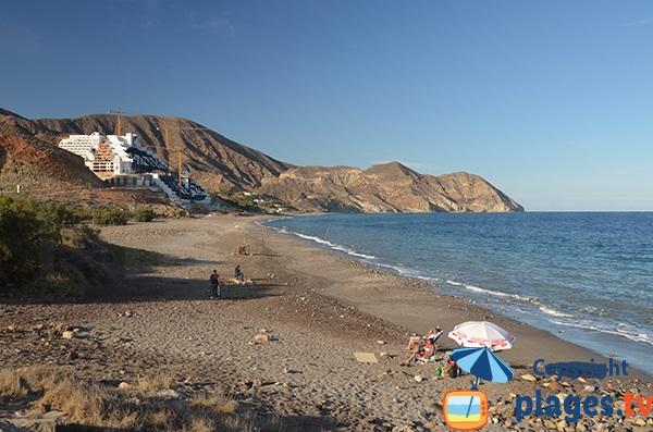 Photo de la plage de la Galera à Carboneras - Andalousie