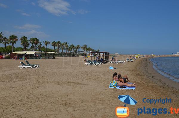Belle plage à Sant Carles de la Ràpita - Espagne