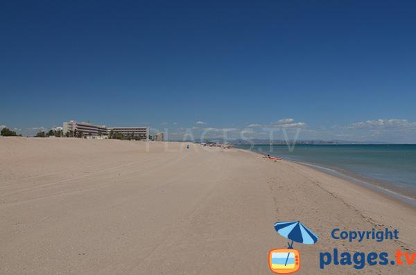 Grande plage peu connue au sud de Valence - Garrofera