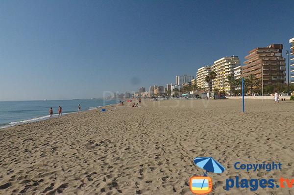 Photo de la plage de Las Gaviotas à Fuengirola - Andalousie