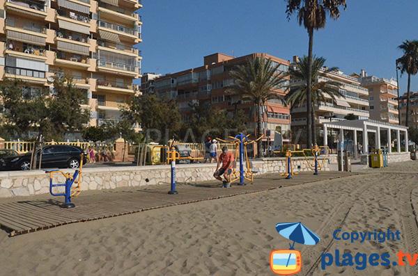 Sport sur la plage de Las Gaviotas à Fuengirola