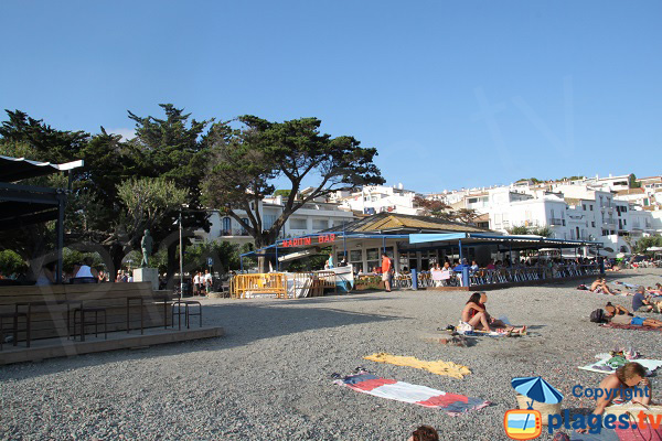 Bars and restaurants on the beach of Cadaques